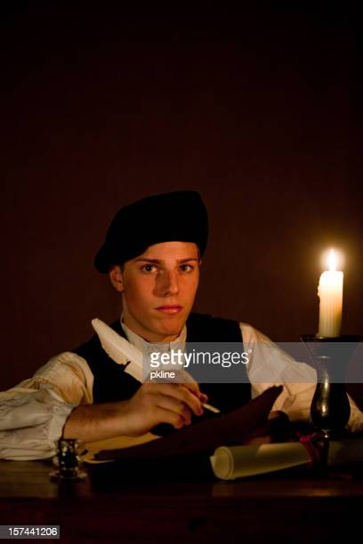 Nobleman Working by Candle Light