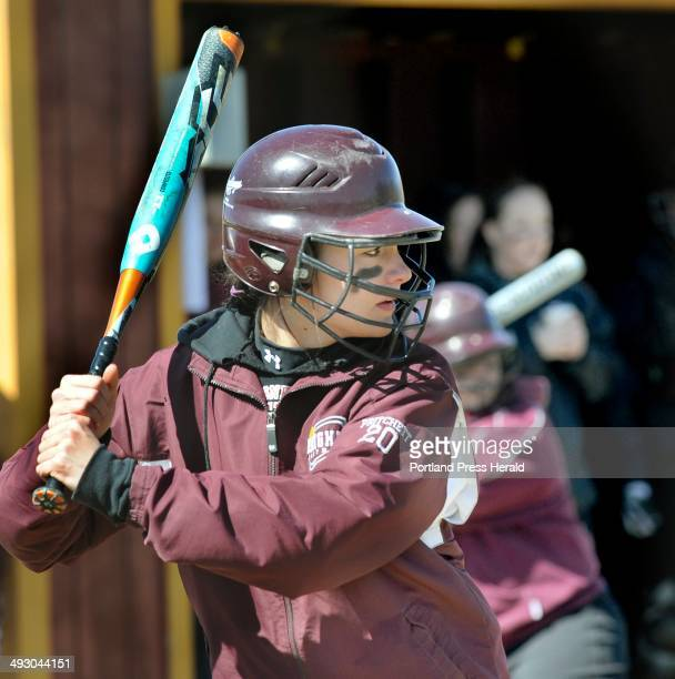 Noble's Molly Pritchett at bat as Thornton Academy softball hosts Noble in Saco Sat April 6 2013 For Mike Lowe feature