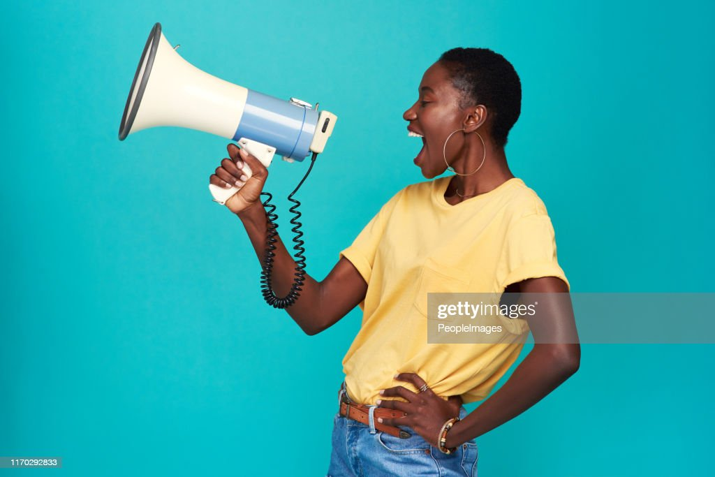 Nobody else has your voice. Use it : Stock Photo