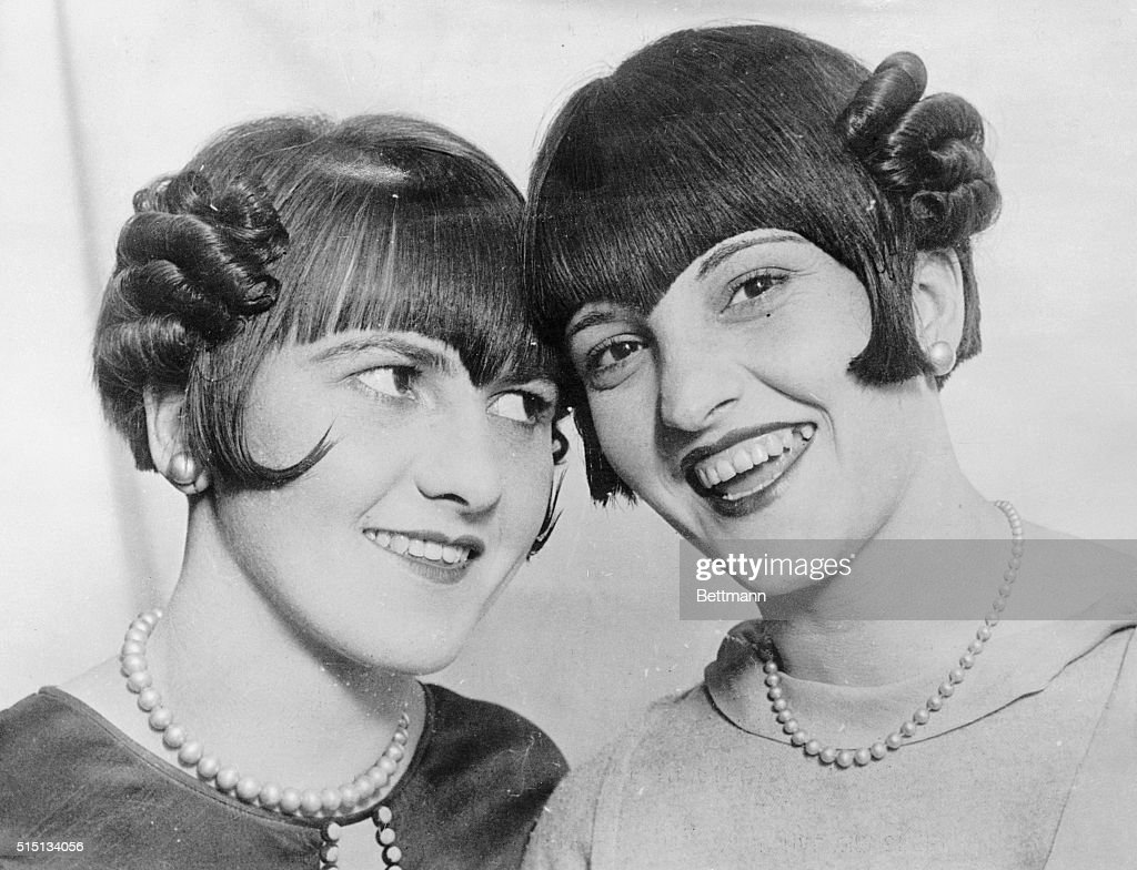 Two Girls Showing off Monkey Bobs : News Photo