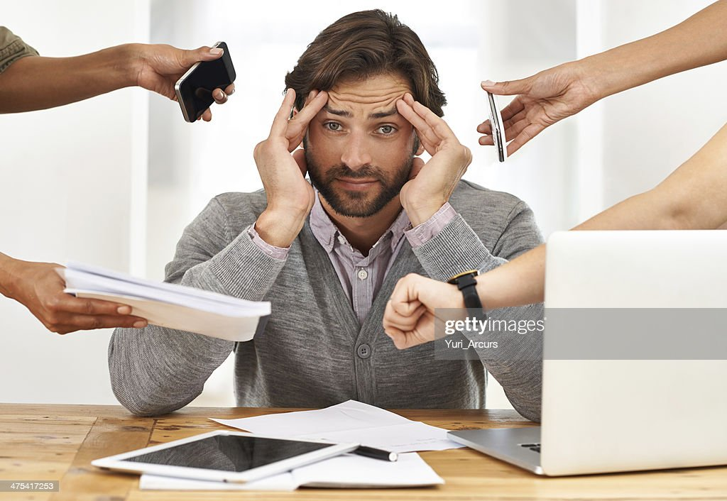 Nobody thought of bringing a headache pill to the party? : Stock Photo