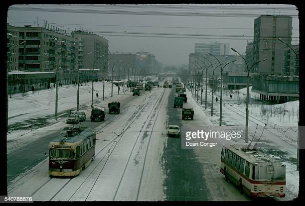 A Nobosibirsk Street in Winter