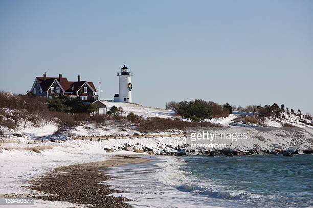 Nobska Lighthouse in Winter