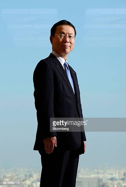 Nobuhide Hayashi president and chief executive officer of Mizuho Bank Ltd poses for a photograph in Tokyo Japan on Thursday May 1 2014 Mizuho...