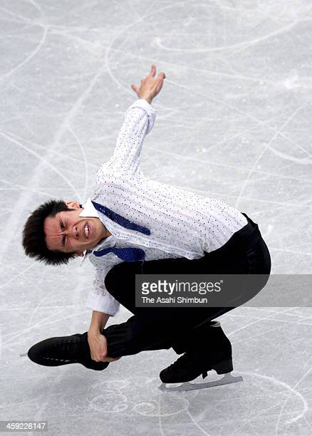 Nobunari Oda competes in the Men's Short Program during the day one of the 82nd All Japan Figure Skating Championships at Saitama Super Arena on...