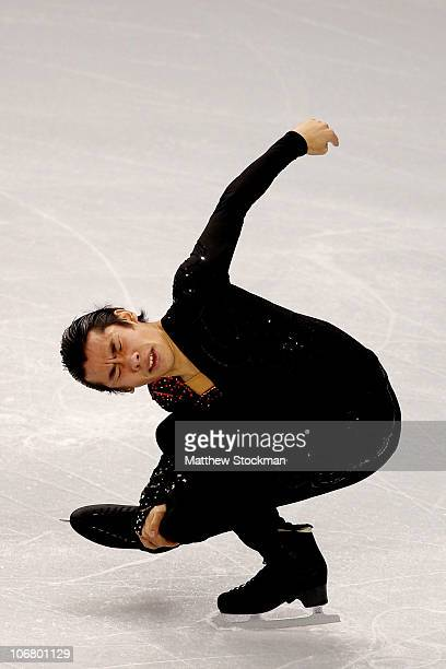 Nobunari Oda of Japan competes in the Short Program during Skate America at Rose Garden Arena on November 12 2010 in Portland Oregon