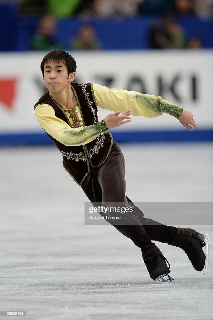Nobunari Oda of Japan performs in the men's free skating during All Japan Figure Skating Championships at Saitama Super Arena on December 22, 2013 in Saitama, Japan.