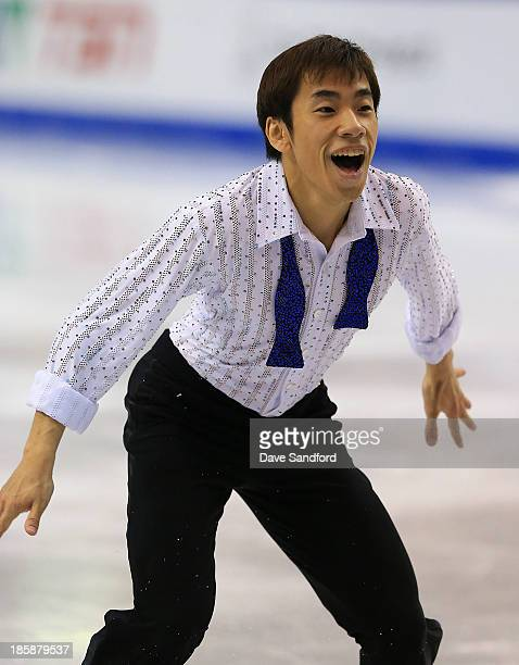 Nobunari Oda of Japan skates during the men's short program at the ISU GP 2013 Skate Canada International at Harbour Station on October 25 2013 in...