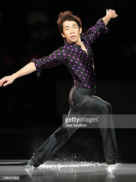 Nobunari Oda of Japan skates in the Exhibition Gala during 2010 Skate Canada International at the KRock Centre October 31 2010 in Kingston Ontario...