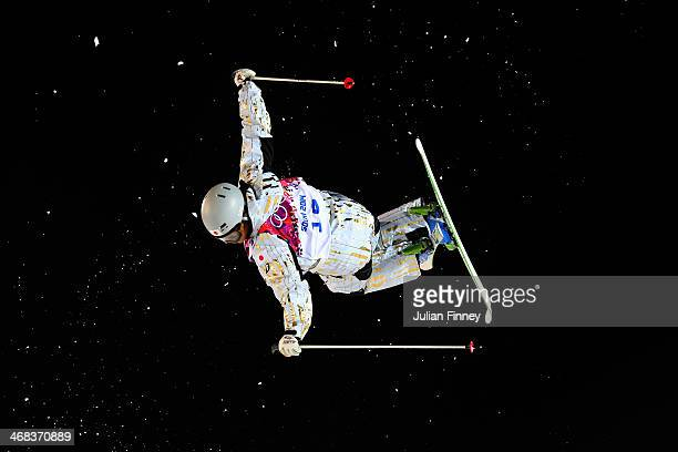 Nobuyuki Nishi of Japan competes in the Men's Moguls Finals on day three of the Sochi 2014 Winter Olympics at Rosa Khutor Extreme Park on February 10...