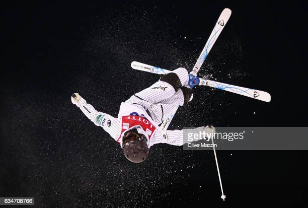 Nobuyuki Nishi of Japan in action during the Mens Moguls final at the FIS Freestyle Ski World Cup 2016/17 Moguls at Bokwang Snow Park on February 11...