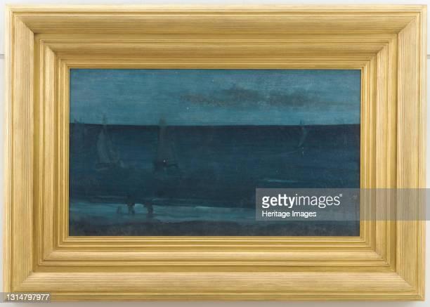Blue and Silver--Bognor, 1871-1876. Artist James Abbott McNeill Whistler.