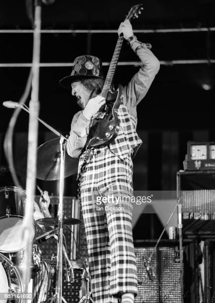 Noddy Holder of Slade performing on stage at Earls Court London 01 July 1973