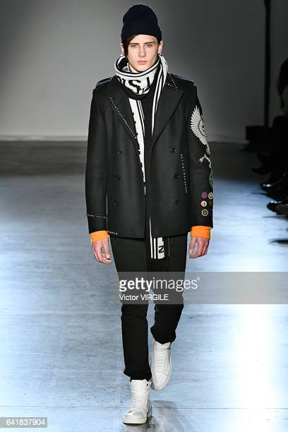 Noe Elmaleh walks at the Zadig Voltaire Ready to Wear fashion show during New York Fashion Week Fall Winter 20172018 on February 13 2017 in New York...