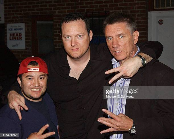 Noe Gonzalez, Jeff Burghart, and Frazer Smith during Mike Epps Performs at The Ice House Hosted by Rudy Moreno - August 2, 2005 at The Ice House in...