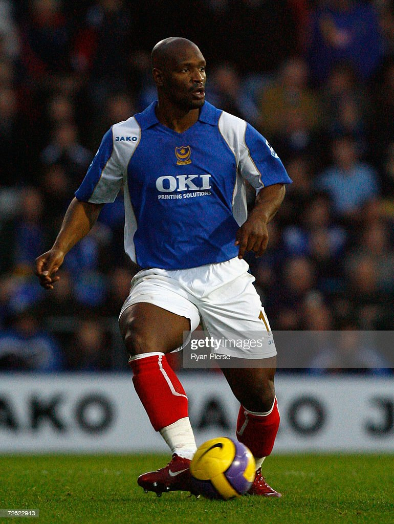 Noe Pamarot of Portsmouth in action during the Barclays Premiership match between Portsmouth and Watford at Fratton Park on November 18, 2006 in Portsmouth, United Kingdom.