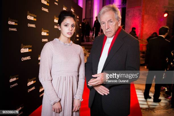 Noee Abita and CostaGavras attend the 'Cesar Revelations 2018' party at Le Petit Palais on January 15 2018 in Paris France