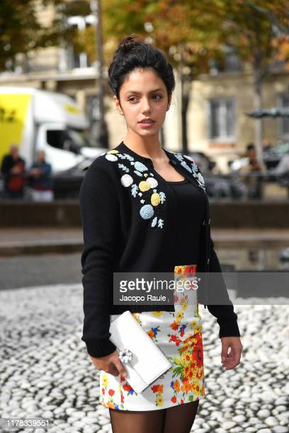 Noee Abita attends the Miu Miu Womenswear Spring/Summer 2020 show as part of Paris Fashion Week on October 01 2019 in Paris France