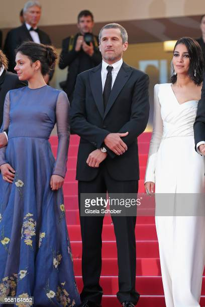 Noee Abita Guillaume Canet and Leila Bekhti attend the screening of 'Sink Or Swim ' during the 71st annual Cannes Film Festival at Palais des...