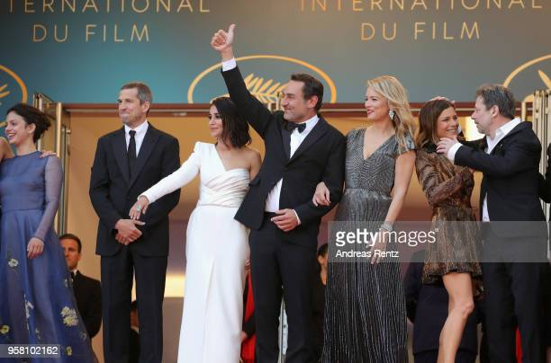 Noee Abita Guillaume Canet Leila Bekhti director Gilles Lellouche giving the thumbs up Virginie Efira Marina Fois and Mathieu Amalric attend the...