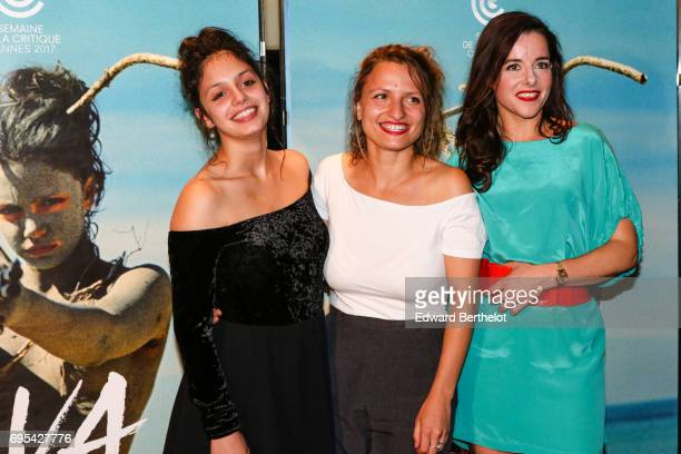 Noee Abita Lea Mysius and Laure Calamy during 'Ava' Paris Premiere photocall at UGC Les Halles at UGC Cine Cite des Halles on June 12 2017 in Paris...
