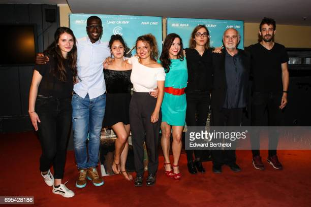 Noee Abita Valentine Cadic Lea Mysius and Laure Calamy during 'Ava' Paris Premiere photocall at UGC Les Halles at UGC Cine Cite des Halles on June 12...