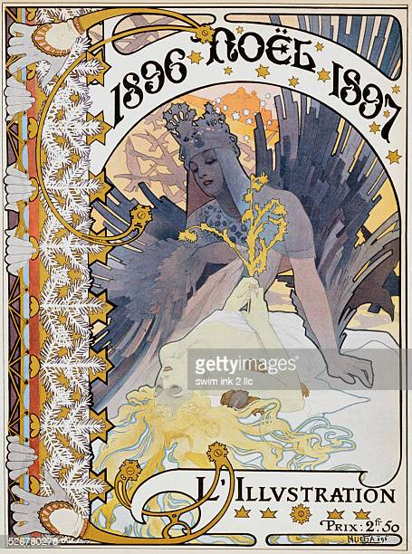 Noel 1897 Poster by Alphonse Marie Mucha
