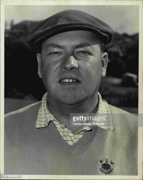 Noel Bartell of NSW State Amature Golf at Lakes July 31 1963