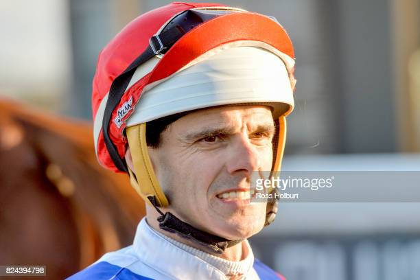Noel Callow after winning the Sportsbet Racing Form BM64 Handicap at Racingcom Park Synthetic Racecourse on July 30 2017 in Pakenham Australia