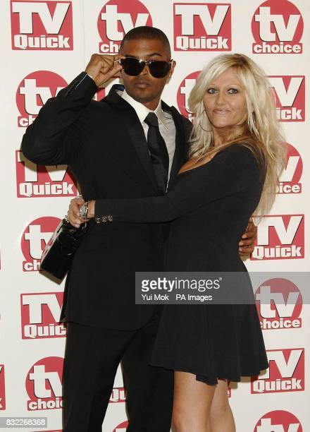 Noel Clarke and Camille Coduri arrives for the TV Quick and TV Choice Awards at the Dorchester Hotel central London