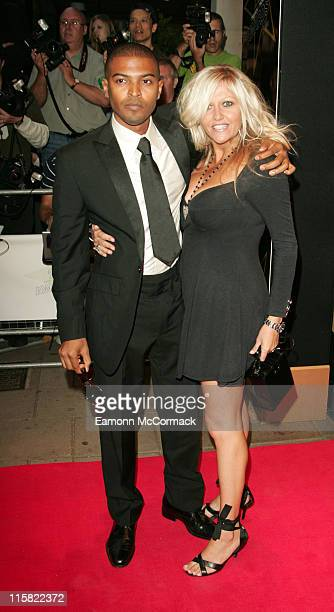 Noel Clarke and Camille Coduri during TV Quick and TV Choice Awards Outside Arrivals at The Dorchester in London Great Britain