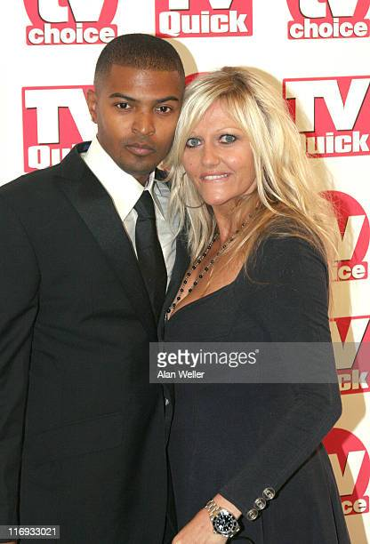 Noel Clarke and Camille Coduri during TV Quick Awards TV Choice Awards Inside Arrivals at The Dorchester in London Great Britain