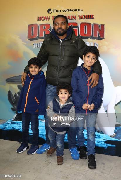 Noel Clarke and guests attend How To Train Your Dragon The Hidden World – Immersive Screening on January 26 2019 in London England