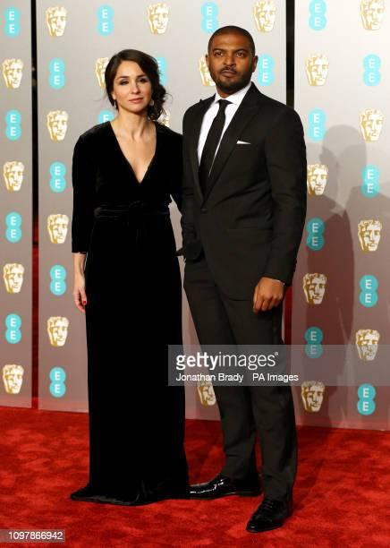 Noel Clarke and Iris Clarke attending the 72nd British Academy Film Awards held at the Royal Albert Hall Kensington Gore Kensington London