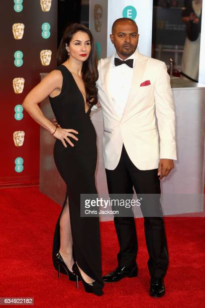 Noel Clarke and Iris DaSilva attend the 70th EE British Academy Film Awards at Royal Albert Hall on February 12 2017 in London England