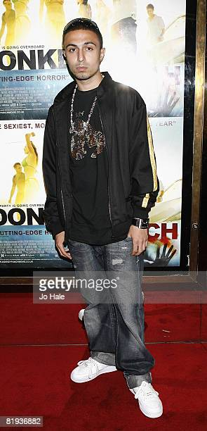 Noel Deacon arrives at the Donkey Punch London Premiere at the Empire Leicester Square on July 142008 in LondonEngland