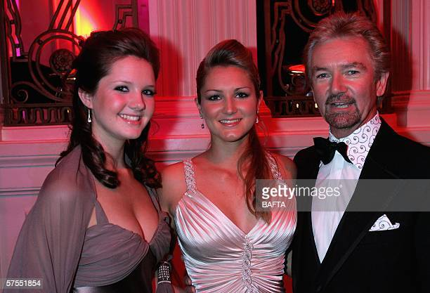 Noel Edmonds and daughters Lorna and Olivia attend the champagne reception ahead of the Pioneer British Academy Television Awards 2006 at the...