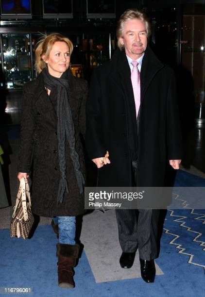 Noel Edmonds and Girlfriend during Noel Edmonds Appears on the Late Late Show at RTE Studios in Dublin, Ireland.