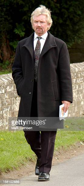 Noel Edmonds Attends The Funeral Of Caron Keating At Herver Castle In Kent