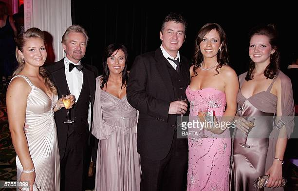 Noel Edmond's daughter Lorna Edmonds TV presenter Noel Edmonds actors Jessie Wallace Shane Richie and Noel Edmond's daughters Charlotte and Olivia...