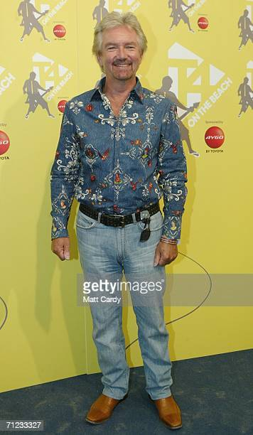 Noel Edmonds poses backstage at T4 On The Beach on June 18 2006 in WestonSuperMare England
