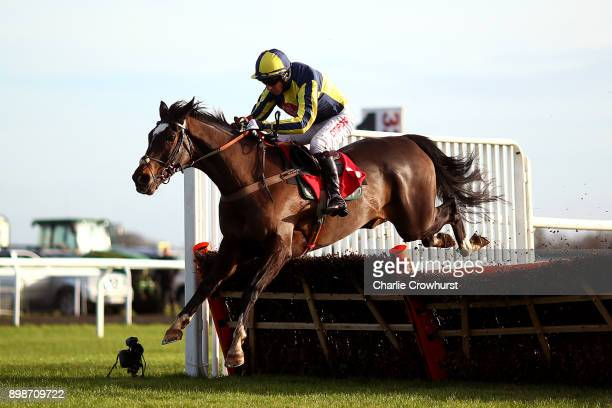 Noel Fehily rides If The Cap Fits to win The 32Red Casino Novices' Hurdle Race at Kempton Park racecourse on December 26 2017 in Sunbury United...