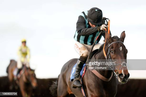Noel Fehily riding Bags Groove clear the last to win The Jockey Club Ownership Syndicate 'Rising Stars' Novices' Chase at Wincanton Racecourse on...