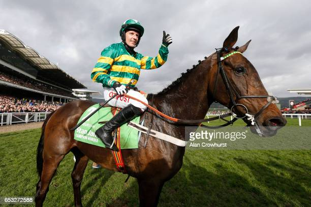 Noel Fehily riding Buveur DâAir win The Stan James Champion Hurdle Challenge Trophyat Cheltenham racecourse on day one of the festival meeting on...