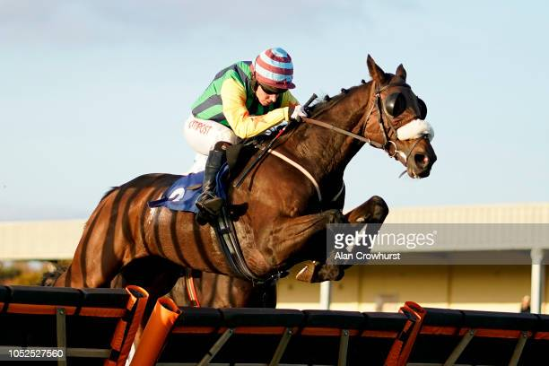 Noel Fehily riding Full clear the last to win The getsbkcom The SuperPrice Sportsbook Handicap Hurdle at Wincanton Racecourse on October 19 2018 in...