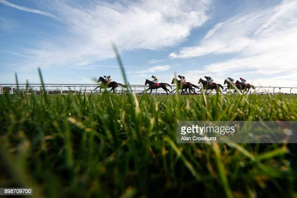 Noel Fehily riding If The Cap Fits on their way to winning The 32Red Casino Novicesâ Hurdle Race at Kempton Pak racecourse on December 26 2017 in...