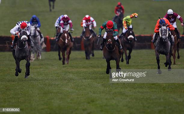 Noel Fehily riding Unowwhatimeanharry win The Albert Bartlett Novices' Hurdle Race during the Gold Cup Day of Cheltenham Festival at Cheltenham...