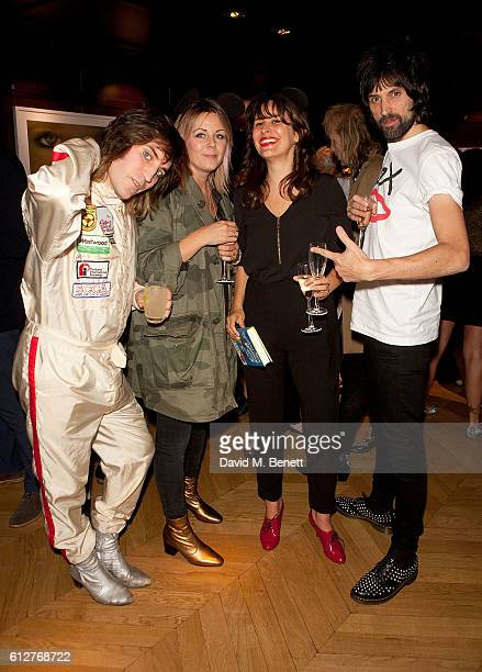Noel Fielding Amy Pizzorno Lliana Bird and Sergio Pizzorno attend the launch of new book 'The Mice Who Sing For Sex And Other Weird Tales From The...