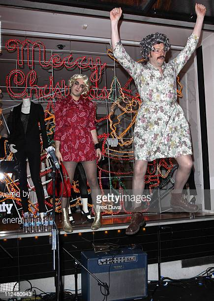 Noel Fielding and Julian Barratt attend the switch on ceremony for the Stella McCartney store christmas lights on November 23 2009 in London England
