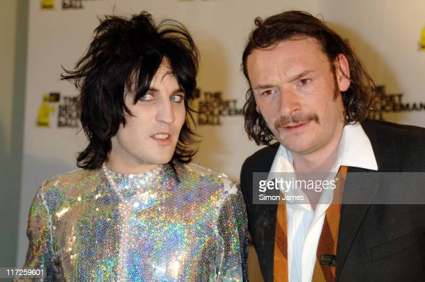 Noel Fielding and Julian Barratt during Secret Policeman's Ball Pressroom at Royal Albert Hall in London Great Britain
